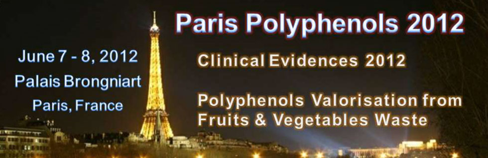 World congress on Polyphenols applications, June 7-8, 2012 Paris
