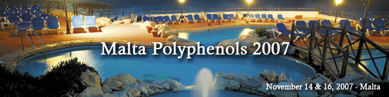 World congress on Polyphenols applications, November 14 & 16, 2017 malta