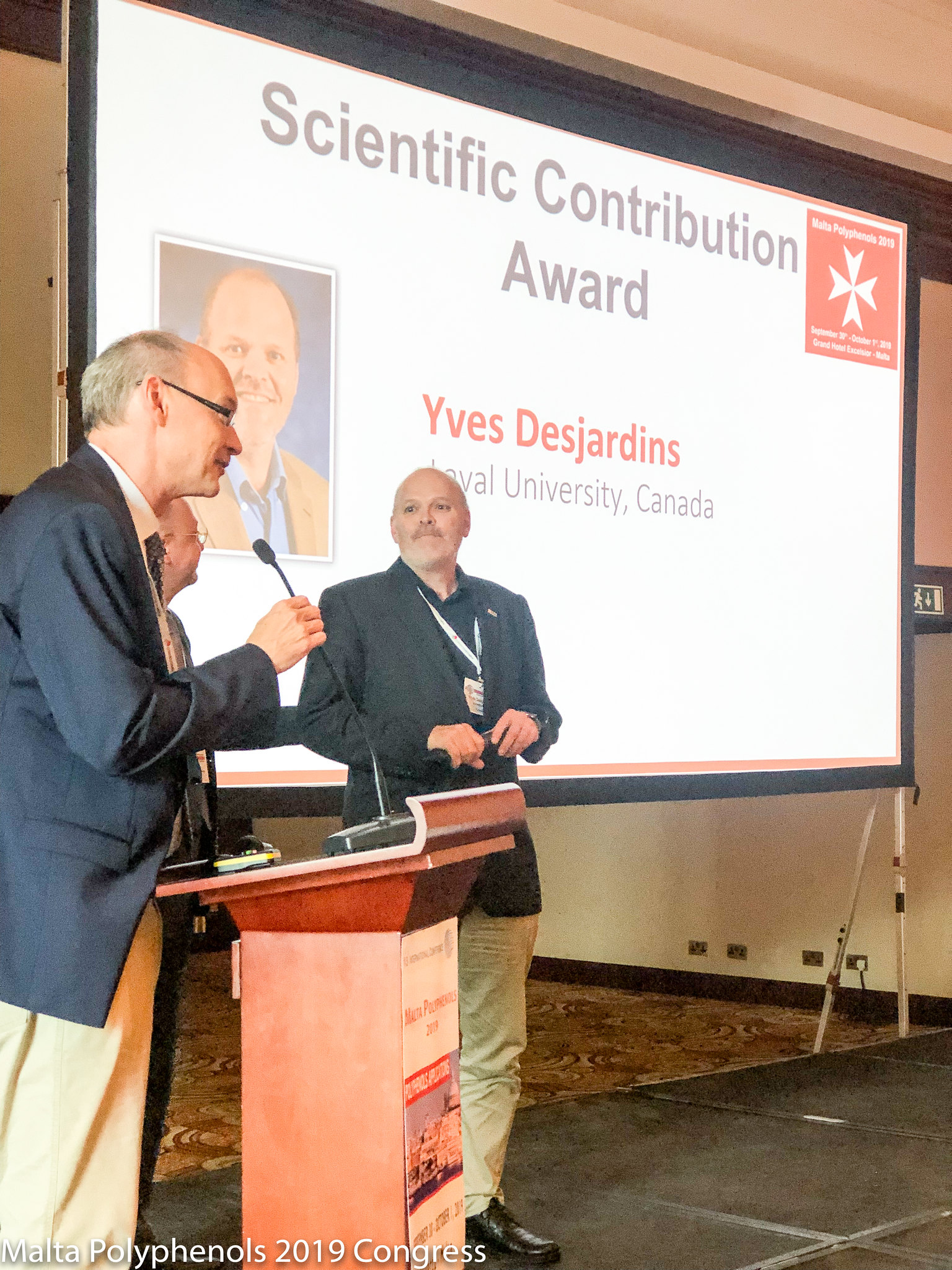 The Scientific Committee has discerned a Scientific Contribution Award to Prof. Yves Desjardins